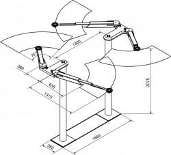 Подъёмник 2х плунжерный Модель: 9210 R-35-Plus