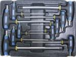 Набор ключей Т-образных шестгранных H2-H12 с пластиковой рукояткой 10пр. в ложементе ACK-382002